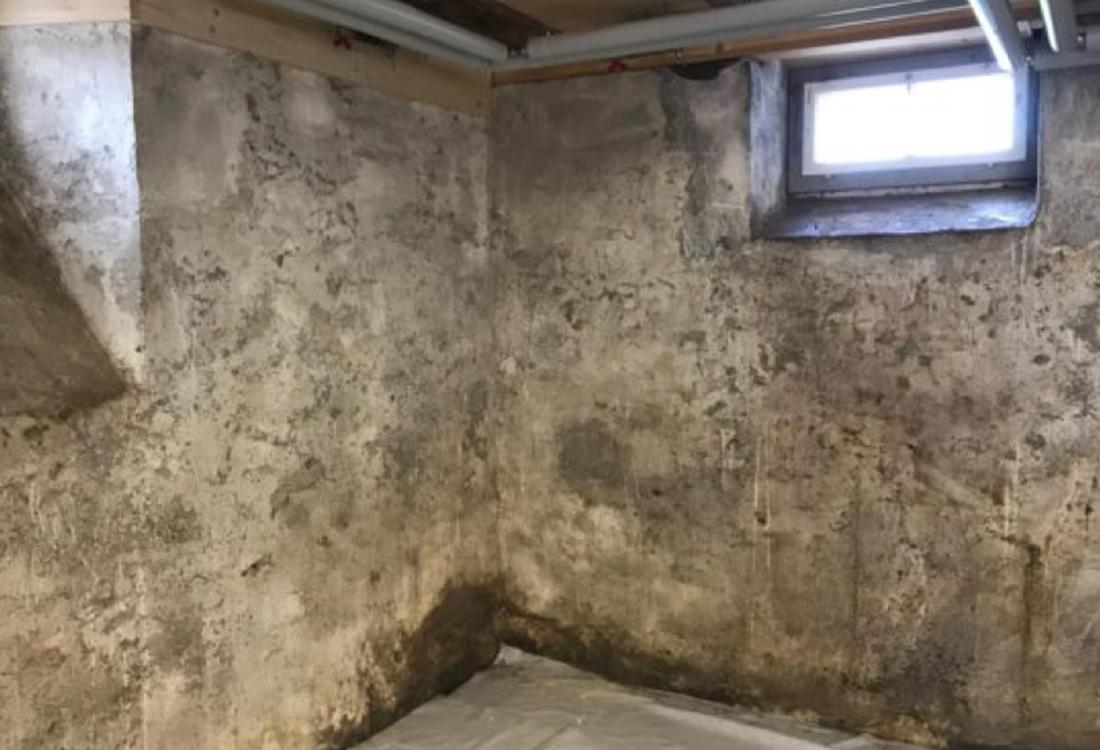 Altbau Keller neuer Anstrich mit Mineralfarbe –Ausgangslage