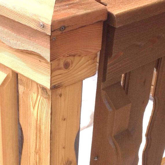 Holz-Sandstrahlen Detail – Hannes Nussbaumer AG, Baar