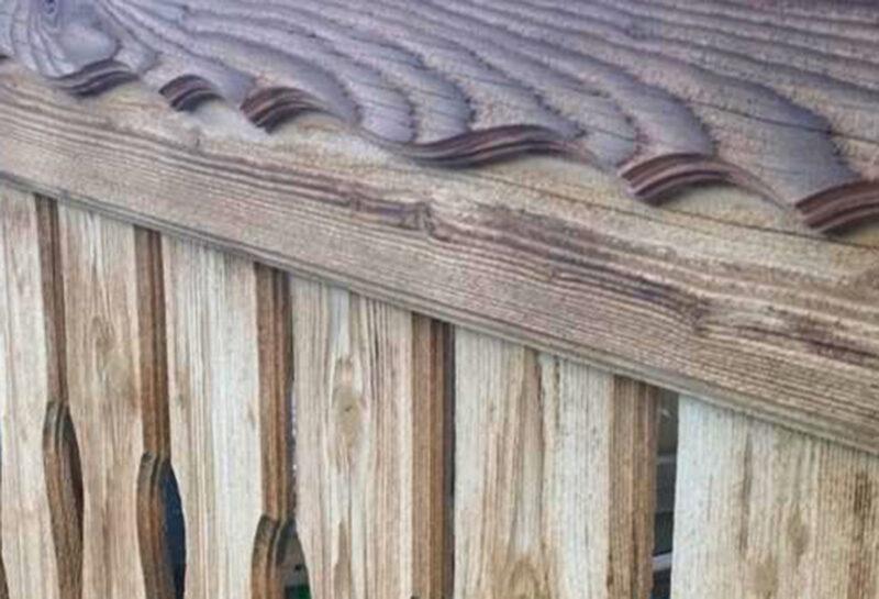 Holz-Sandstrahlen Detailaufnahme – Hannes Nussbaumer AG, Baar